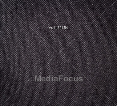 Black Fabric Texture. Clothes Background. Close Up Stock Photo