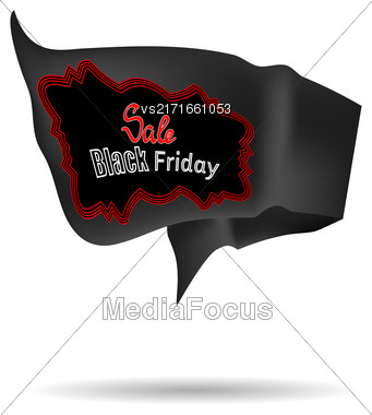 Black Friday Sale Banner Isolated On White Background Stock Photo