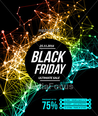 Black Friday Sale. Vector Illustration On White Background Stock Photo