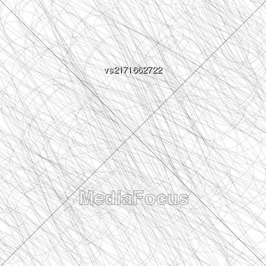 Black Grunge Strokes Isolated On White Background. Black Careless Sketch Stock Photo