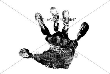 Black Hand Print Stock Photo