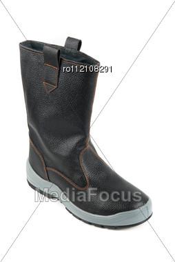 Black Kersey Boots . Stock Photo