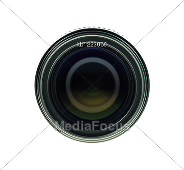 Black Lens Front View Of Lens Stock Photo
