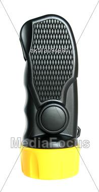 Black Pocket Electric Power Lantern Stock Photo