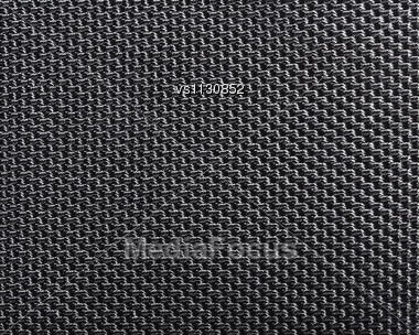 Black Polyester Texture Background. Close Up Stock Photo