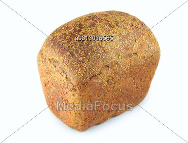 Black Rye Bread With Caraway Seeds Stock Photo