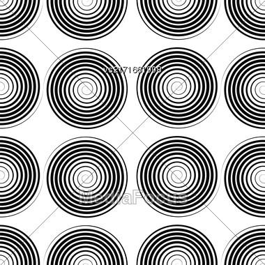 Black Spiral Background. Hypnotic Monochrome Sripal Pattern Stock Photo