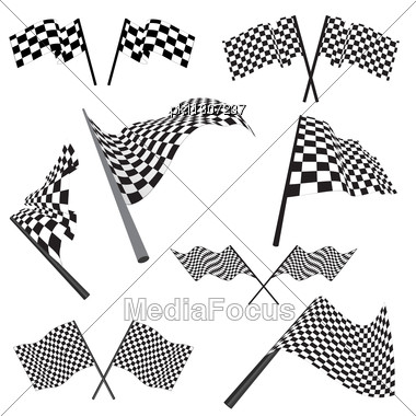 Black  White Clip  Auto Racing on Keywords 3d Abstract Checked Checkered Clip Art Geometry Grid