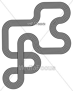 Black White Striped Line Symbol Isolated On White Background Stock Photo
