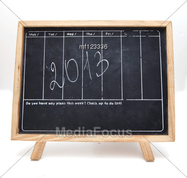 Blackboard With 2013 New Year Number Stock Photo