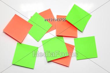 Blank Sticky Note On White Board Stock Photo