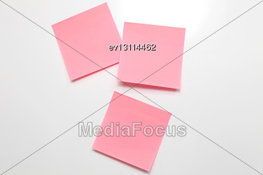 Blank Sticky Note On White Board Stock Photo