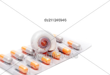 Blister Pack Of Pills Isolated Stock Photo