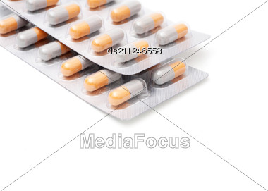 Blister Packs Of Pills Stock Photo