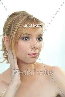 Blonde Beauty Stock Photo