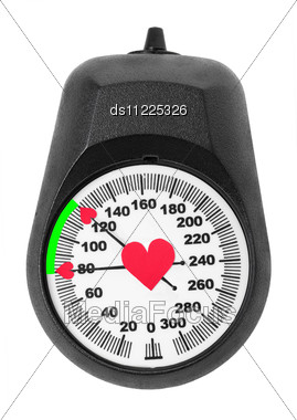 Blood Pressure Monitor Scales Stock Photo