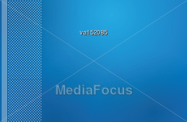 Blue Backdrop Letterhead Vector Illustration Stock Photo