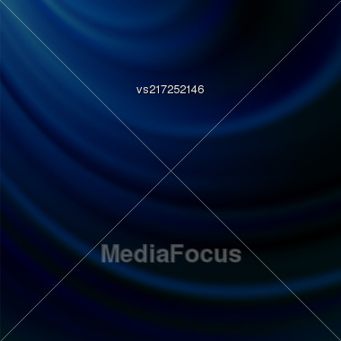 Blue Blurred Wave Background. Soft Satin Pattern Stock Photo