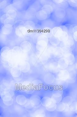 Blue Bokeh Background Stock Photo