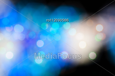 Blue Bokeh - Blur Lights, Defocused Background Stock Photo
