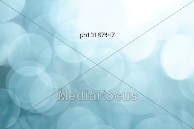 Blue Bokeh Shot. Abstract Background Stock Photo