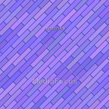 Blue Brick Diagonal Background For Your Design Stock Photo