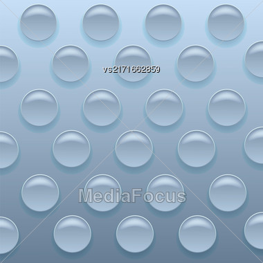 Blue Bubblewrap Background. Blue Plastic Packing Tape Stock Photo