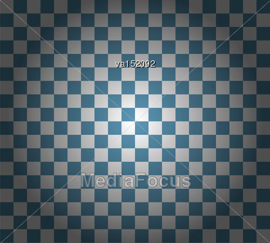 Blue Checkered Background Vector Illustration Stock Photo