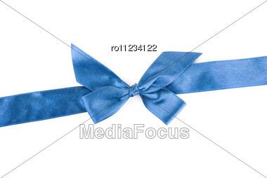Blue Holiday Ribbon Stock Photo