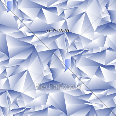 Blue Ice Seamless Pattern. Winter Crystal Background Stock Photo