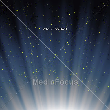 Blue Magic Sky Background. Wave Blue Starry Heaven Stock Photo