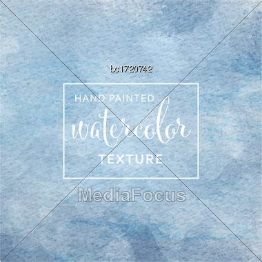 Blue Pastel Watercolor On Tissue Paper Pattern. Vector Stock Photo