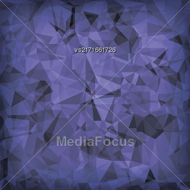 Blue Polygonal Background. Blue Crystal Triangle Pattern Stock Photo