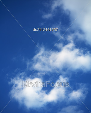 Blue Sky Covered With Clouds Stock Photo