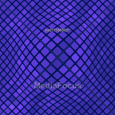 Blue Square Pattern. Abstract Blue Square Background Stock Photo