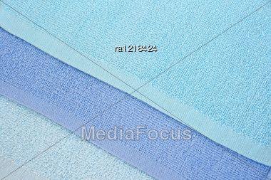 Blue Towels Texture As A Background. Stock Photo