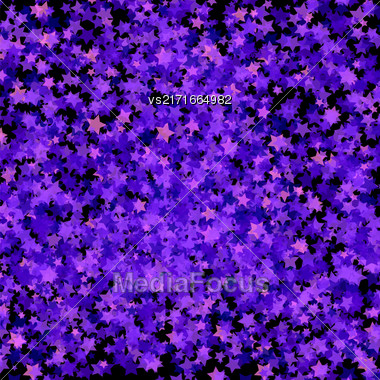 Blue Transparent Stars. Blue Stars Background. Abstract Stars Pattern Stock Photo