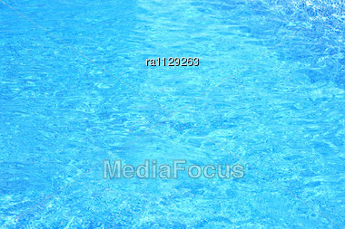 Blue Water In Swimming Pool Stock Photo