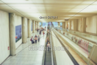 Blurred Airport View. Suitable For Background Stock Photo