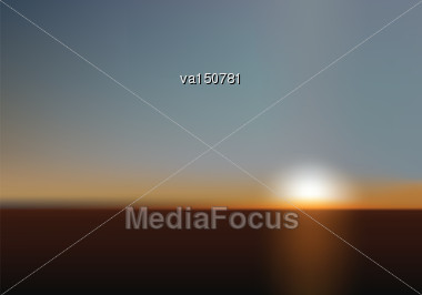 Blurred Sunset As Perfect Background For Business And Web Projects. Mesh Vector Illustration Stock Photo
