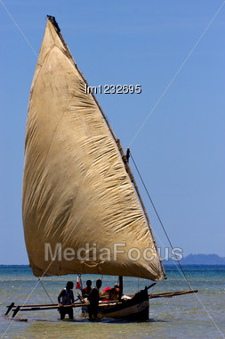 Boat For Fish In Nosy Be Madagascar Stock Photo