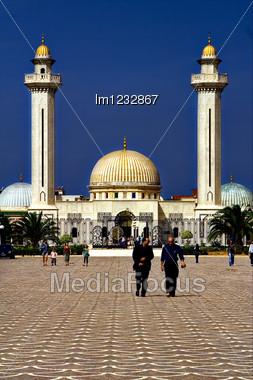 Bourguiba's Gold Mausoleum In Monastir,tunisia Stock Photo