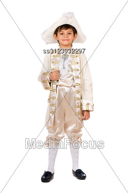 Boy In A Historical Costume. Stock Photo
