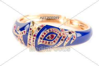 Bracelet With Color Gems Stock Photo