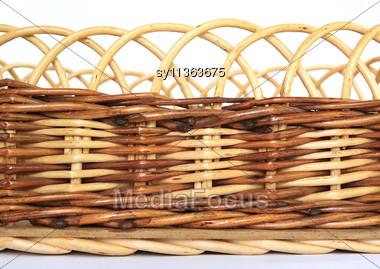 Braided Basket Stock Photo