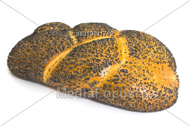 Bread With Poppy Seeds Isolated Stock Photo