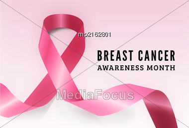 Breast Cancer Awareness Symbol. Vector Illustration On Light Background Stock Photo