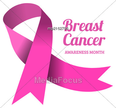 Breast Cancer Awareness Symbol, Isolated On White. Vector Illustration Stock Photo