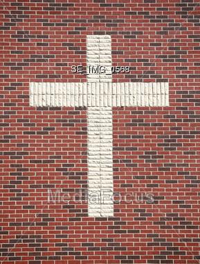 Brick Cross Stock Photo