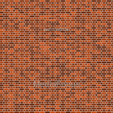 Brick Wall Background. Abstract Red Brick Pattern Stock Photo